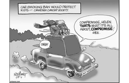 smoking in cars cartoon